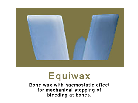 Equiwax (Bone wax with haemostatic effect).